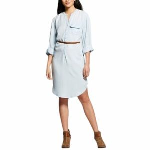 Merona Light Wash Denim Chambray Dress XXL